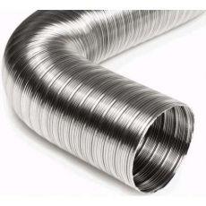Воздуховод стальной гофрированный 1 м D 80мм