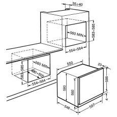 Встравиваемый духовой шкаф Smeg SF6905B1