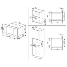 Встравиваемая микроволновая печь Smeg FMI017X