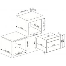 Встравиваемая микроволновая печь Smeg SF4101MS1