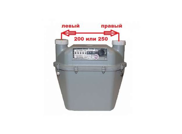 Счетчик газа G6 СГМН-1-06 200мм левый