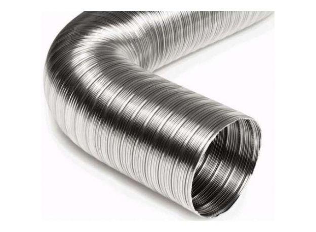 Воздуховод стальной гофрированный 1 м D 130мм