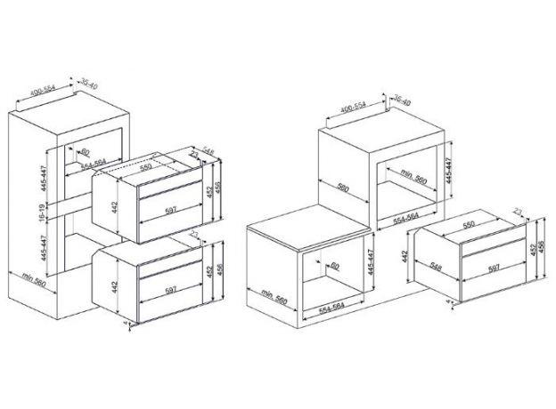 Встраиваемая микроволновая печь Smeg SF4102MN